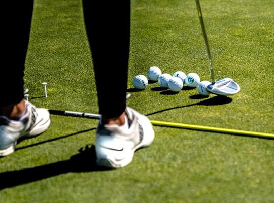 Entrainement golf practice